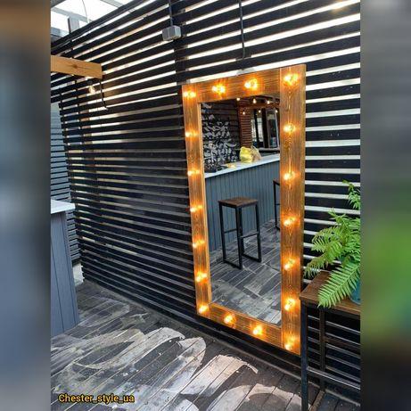 Акция! Зеркало в полный рост с подсветкой на подставке и колесиках