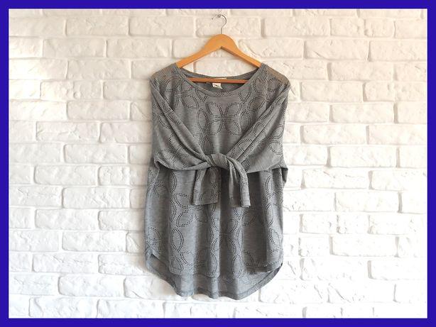 Bluzeczka H&M oversize z ażurowym wzorem