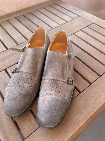 Sapatos monk grey allessandrini