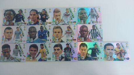 13szt. kart limited edition fifa world cup Brasil