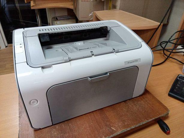 Лазерный принтер HP LaserJet P1102, заправлен 100%