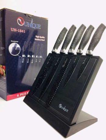 Набор ножей для кухни на подставке с точилкой 5 шт.