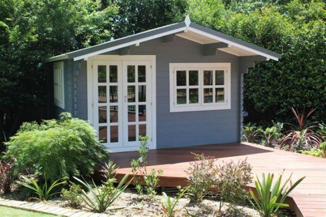 Abrigo de Jardim de Madeira Pré-fabricado de 16m2 | Cabana de Madeira