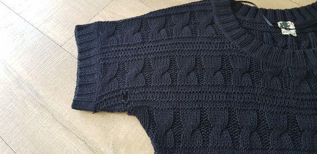 ICHI ażurowy czarny sweterek 38