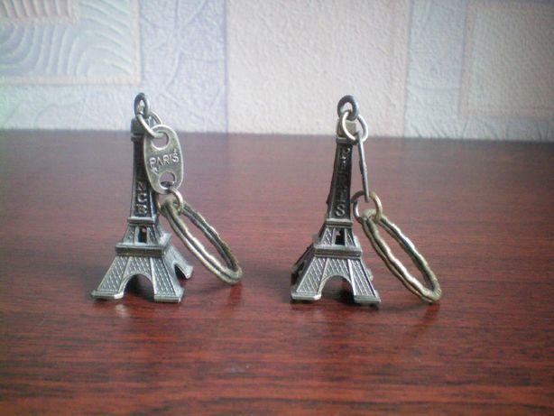 Брелок Эйфелева башня металлический с надписью подарок сувенир