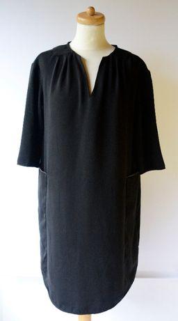 Sukienka H&M Mama Czarna M 38 Ciążowa Elegancka Ciąża Boob Mum Mom
