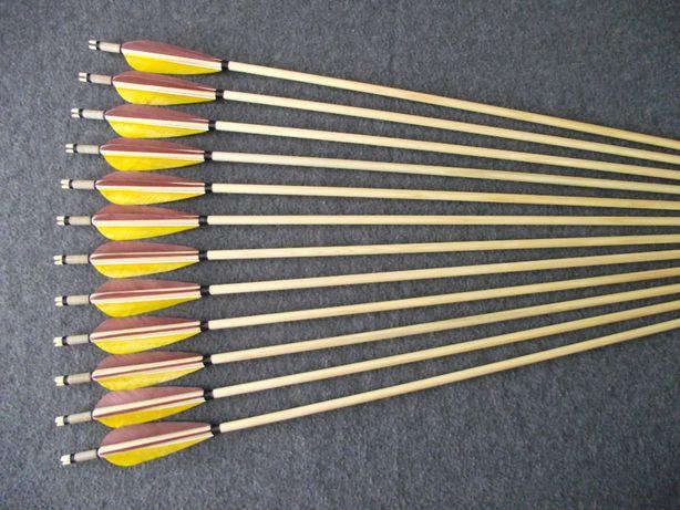 40-45 świerk nr 658 Komplet strzał do łuku strzały strzała drewniana