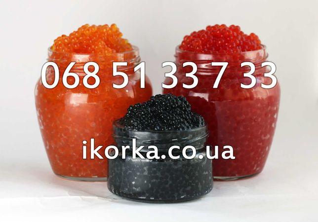 Лучшая цена на красную икру лосося в Украине, подарок 1кг+250грам