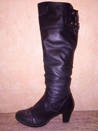 Зимние высокие сапоги, натур. кожа, 39 размер