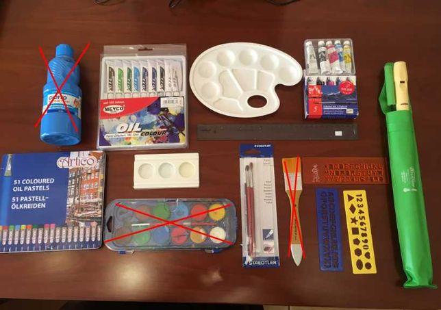 Material escolar e educação visual diverso | desde 0,50€ ou 16€ tudo