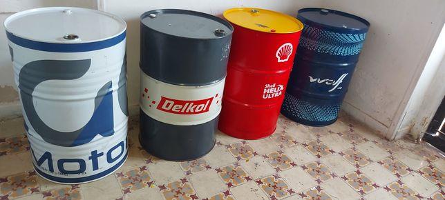 Bidons metálicas várias cores de 200 litros com bujão