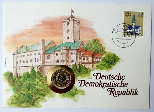 DDR list numizmatyczny z monetą