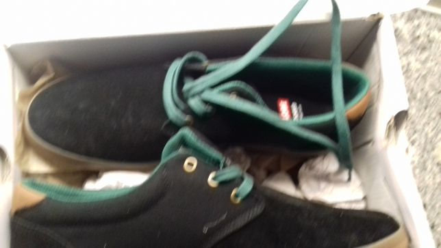 Sapatilhas Globe Modelo Winslow Black/Green/Gum Tamanho 42