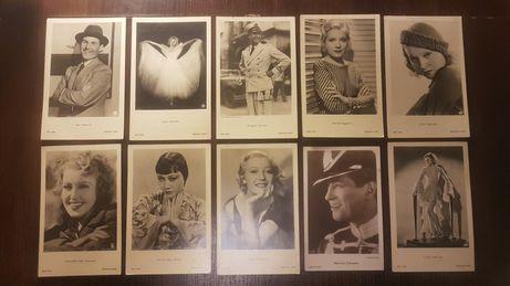 Oryginalne karty pocztowe z postaciami filmowymi