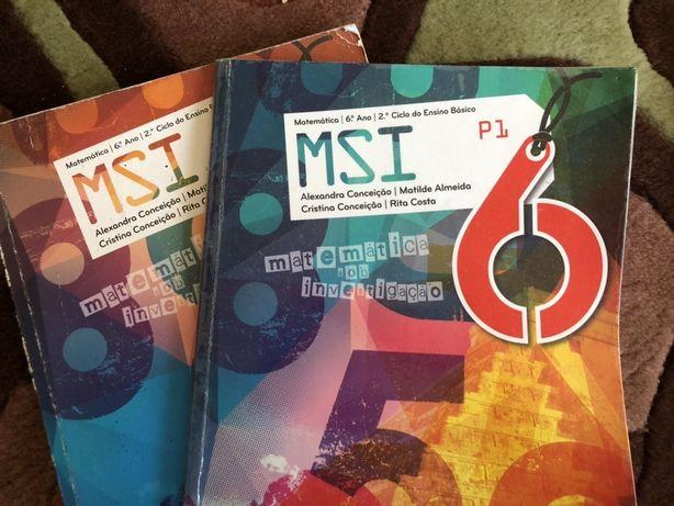 Livro de Matemática MSI Matemática sob Investigação 6 ano