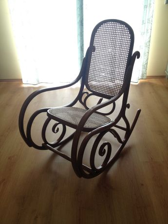 Nowy Ratanowy Fotel Bujany