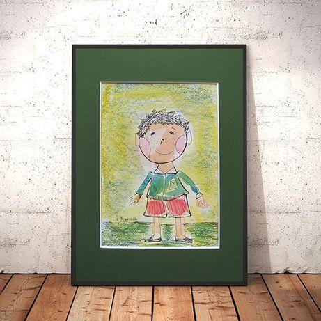 ładny rysunek z chlopczykiem,obrazek dla chłopca,fajny rysunek chłopca