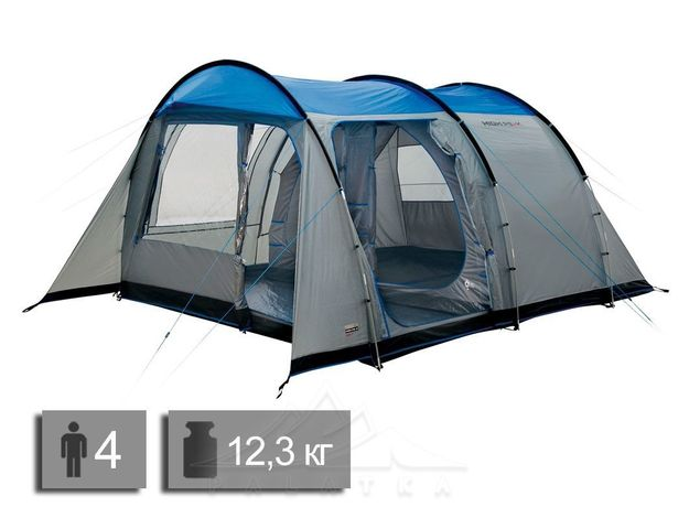 Палатка High Peak Albany 4 Grey Blue
