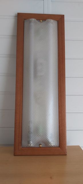 Armadura madeira com 2x lâmpadas