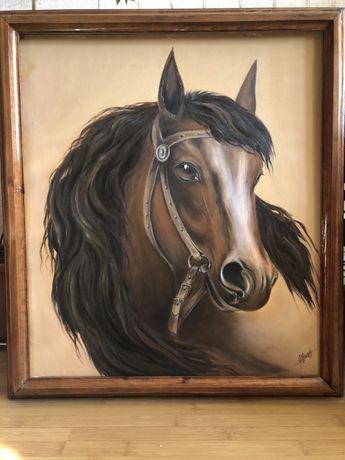 Картина маслом в деревянной раме ручной работы
