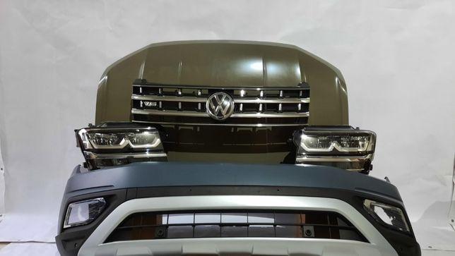 Капот Volkswagen Atlas Фольксваген Атлас Бампер Крыло Фара Телевизор