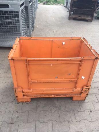 Pojemniki kosze metalowe Gitterbox składane