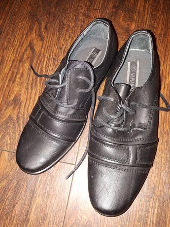 Buty skórzane chłopięce