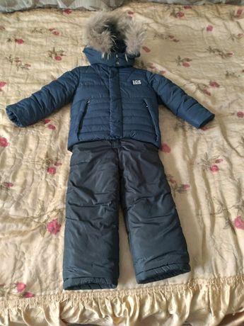 Продам детский зимний комбинезон ( куртка, штаны на лямках, жилетка)