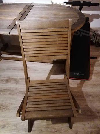 Stół ogrodowy + 4 krzesła