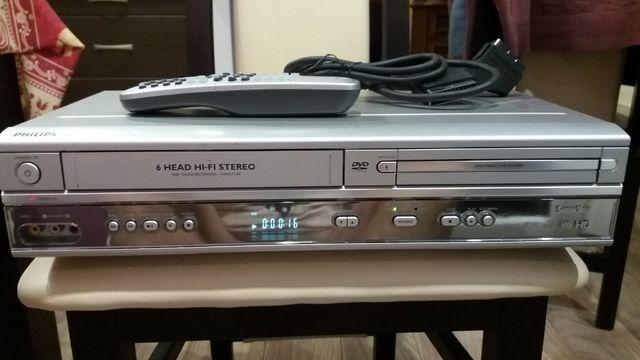 Magnetowid PHILIPS DVP-620VR Combo DVD-VHS z pilotem