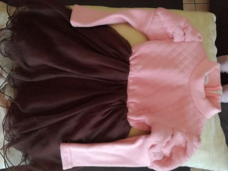 Sukienka z tiulem, na święta, r.110-116