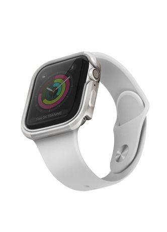 Capa Uniq Etui Valencia Apple Watch Series 4/5 44Mm Titanium Prateado
