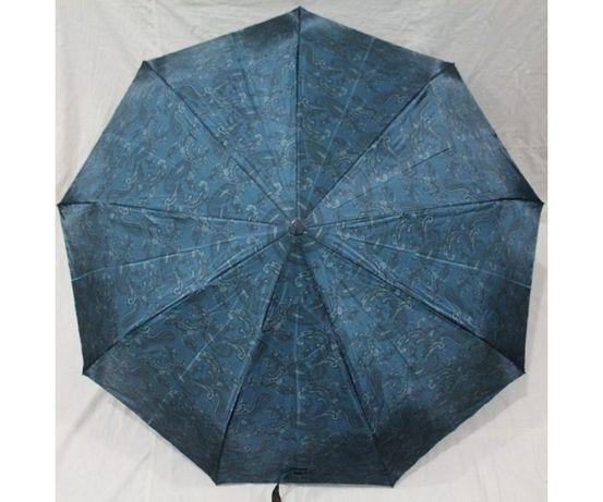 Женский зонт полуавтомат 9 спиц антиветер атлас сатин узоры