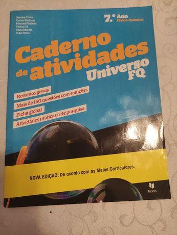Caderno Atividades Universo FQ, Físico Química, 7 ano