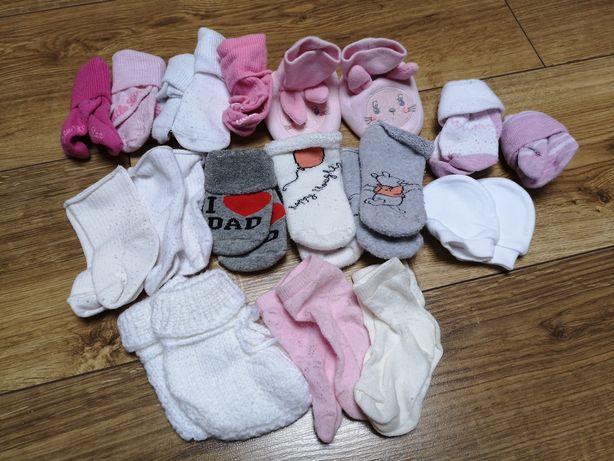 Zestaw skarpetek dla niemowlaka 0-6 miesięcy