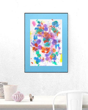 abstrakcja malowana ręcznie, abstrakcja rysunek na ścianę grafika loft