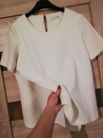 Niespotykana bluzka ecru roz. M/L