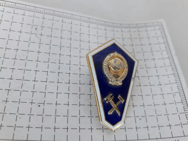 Знак значок Техникум Ленинградский монетный двор СССР Ученический