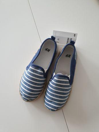 Espadryle letnie H&M nowe 31 buty