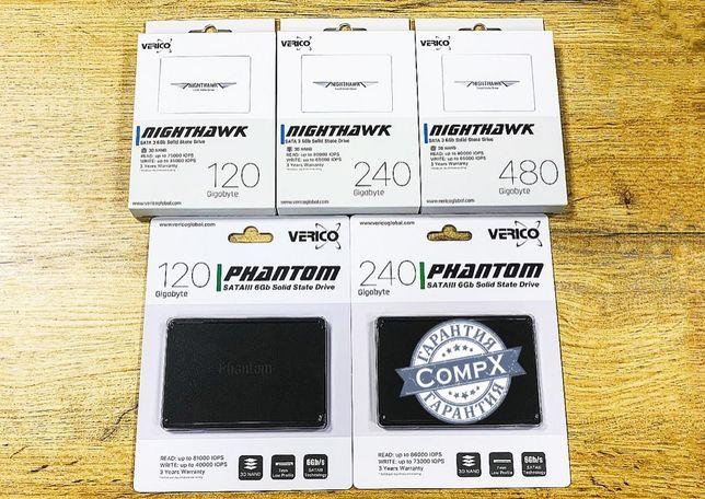 "SSD! Sata 2.5"" накопитель Verico NightHawk/Phantom (120, 240, 480Gb)"