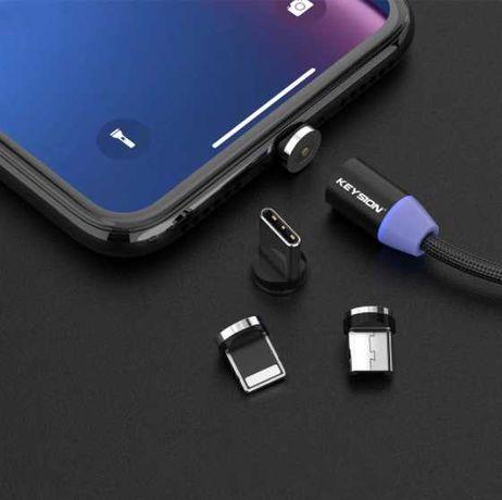 Carregador Magnético USB Type C / IOS / MicroUSB  FastCharging