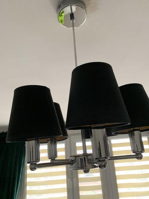 Lampa srebrna czarne abazury. Od osobisty. Piła - image 1