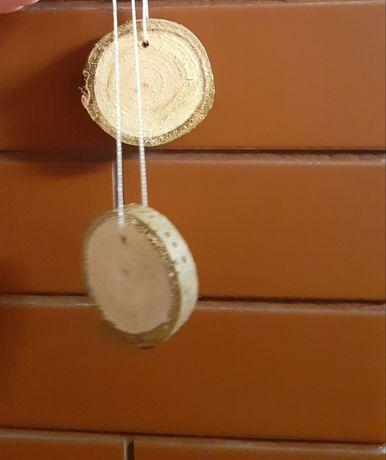 Bombki Ozdoby choinkowe drewniane
