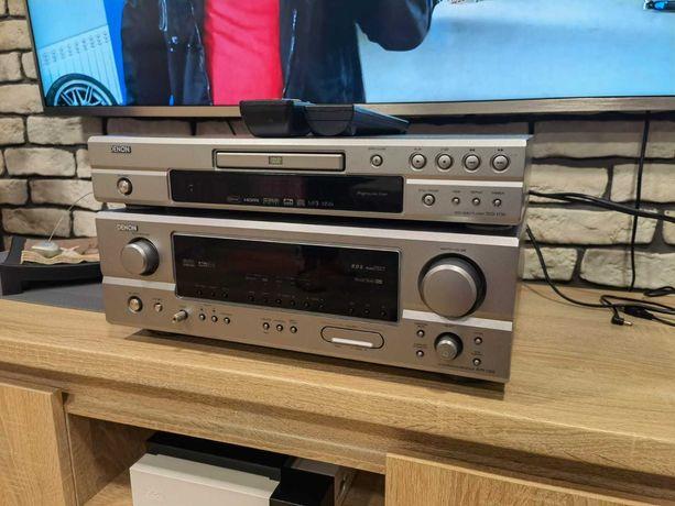 Amplituner Denon + Odtwarzacz DVD/CD