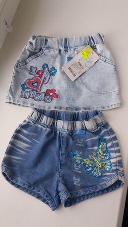 Джинсовые юбка, шорты