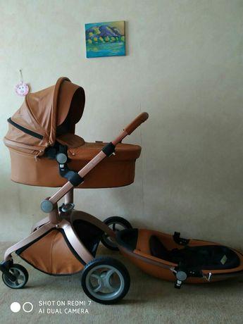 Коляска Hot mom 2в1 коричневая