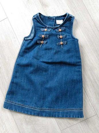 Sukienka jeansowa rozm 92-98