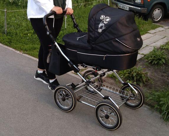 Детская коляска люлька и прогулочный блок
