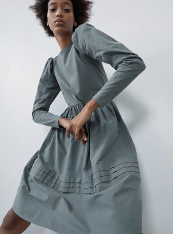Sukienka ZARA z łączonych tkanin