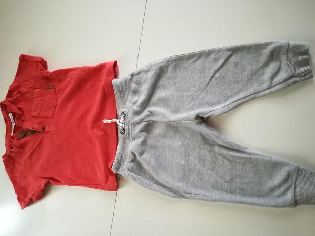 Dresy, spodnie chłopięce Zara 74 80 tshirt